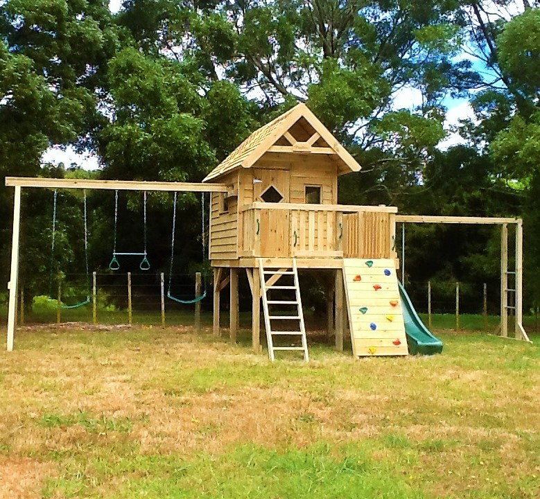 Hillary Raised Playhouse With Veranda Playzone